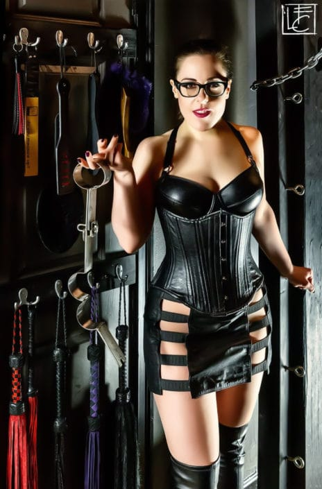 Chicago Dominatrix, Sophia Chase in the Chamber CDR Dungeon
